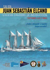 Despedida salida buque escuela Juan Sebastian El Cano