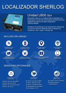 Localizador Sherlog unidad U800 Sea