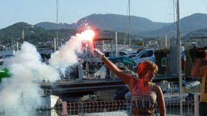 Rotundo exito I Jornada Anavre Ibiza encendido bengala